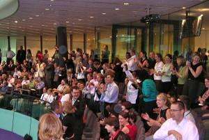 City Hall staff applaud success of London bid for Games