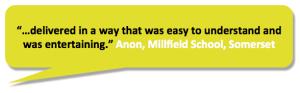 """""""easy to understand"""" Millfield School employee"""