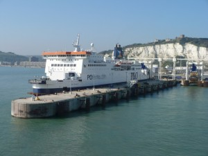 A docked ferry at Dover