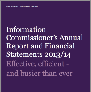 The Information Commissioner's Annual Report was published this week.