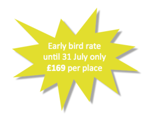 Early bird discount £169