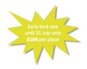 Early bird discount £169