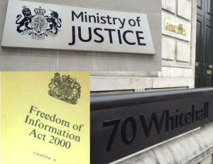 MOJ and Cab Office signs