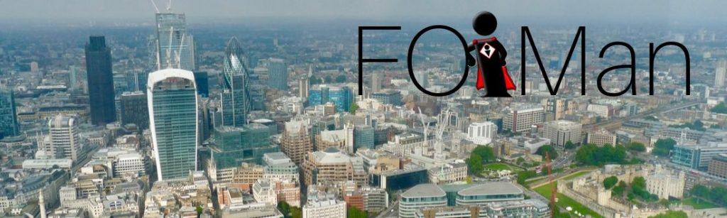 FOIMan against London cityscape