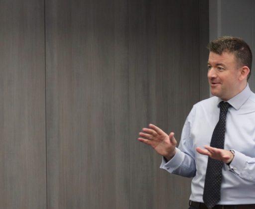 Paul Gibbons presenting