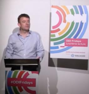 Paul Gibbons speaking at the ODI