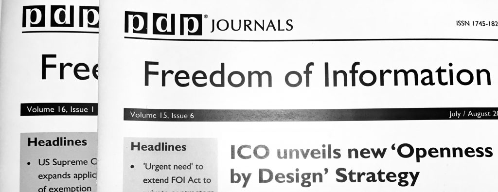copies of F O I Journal