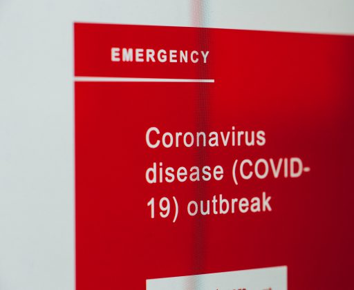 Emergency: Coronavirus on a screen