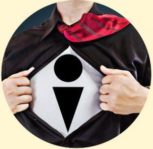 Shirt opening to reveal FOIMan logo
